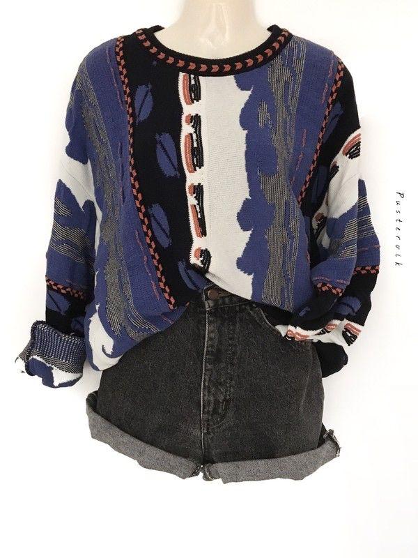 Mein True Vintage 80s 90s Oversize Pullover Hipster Muster Pulli Unisex Urban Style  von true vintage! Größe Uni für 36,00 €. Sieh´s dir an: http://www.kleiderkreisel.de/damenmode/strickpullover/147627147-true-vintage-80s-90s-oversize-pullover-hipster-muster-pulli-unisex-urban-style.
