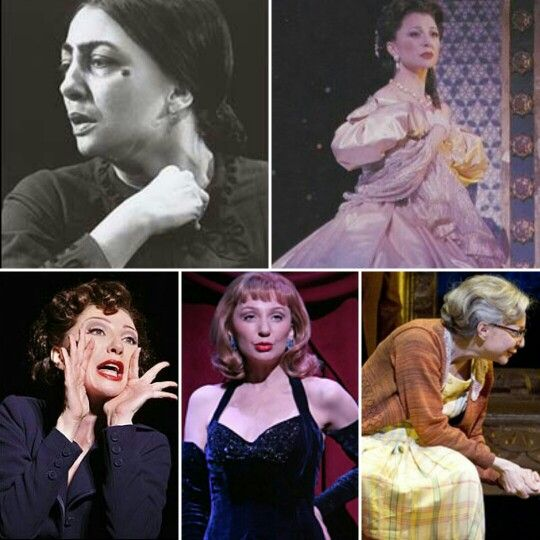 Donna Murphy: Fosca-Passion, Anna Leonowens-The King and I, Ruth Sherwood-Wonderful Town, Lotte Lenya-LoveMusik, Bubbie/Raisel-The People in the Picture