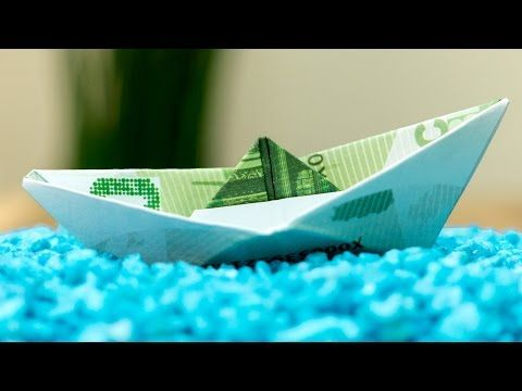 Fold Money Sailboat Origami - $1 One Dollar Bill Tutorial Full Instructions for Moneygami Boat - YouTube