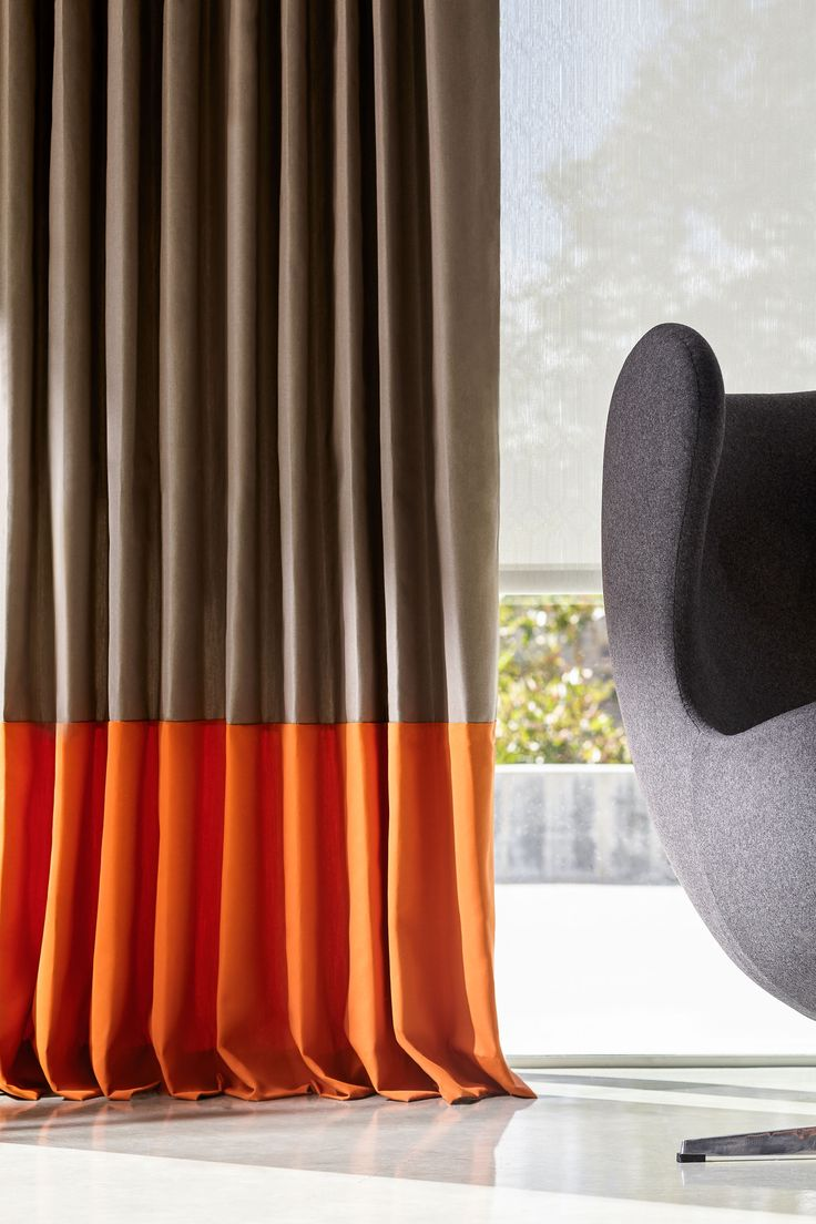 Liven up your drapery with the colorful choices of Velarte, part of the  @sunbrella