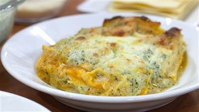 Butternut squash lasagna is an amazing vegetarian Thanksgiving entree. Video of Gia DeLaurenta cooking on today show