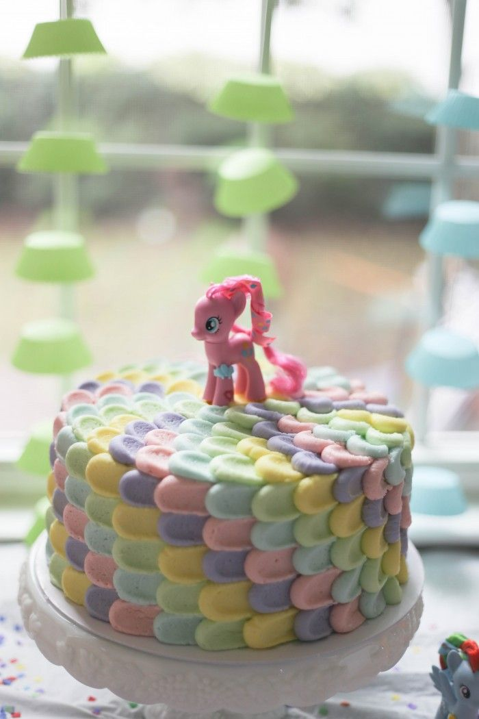 This could be done for any character with the right colour scheme! My Little Pony Rainbow Cake