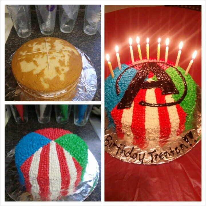 """Avengers cake... My baby said """"I want that one for my birthday""""! He will have it!"""
