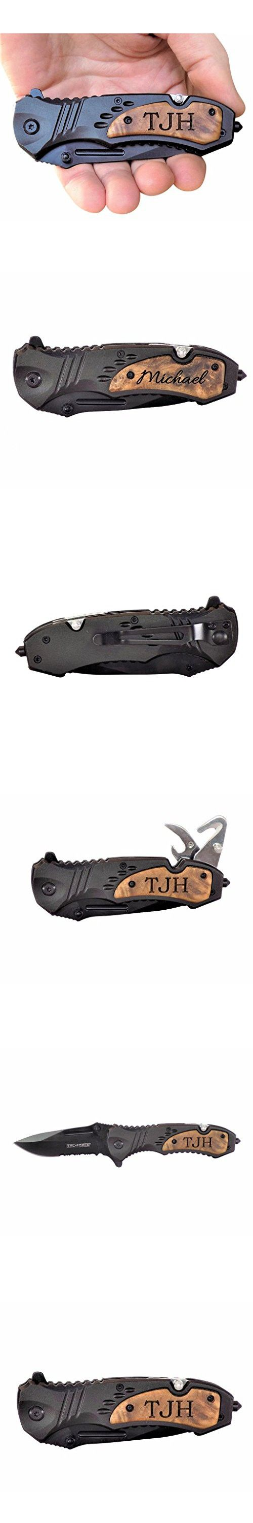 Tac-Force Speedster TF606WS Assisted Opening Tactical Pocket Knife, Groomsmen Gifts, Laser Engraved Knife, Father's Day Gifts, Anniversary Gifts For Men, 5th Anniversary Gifts