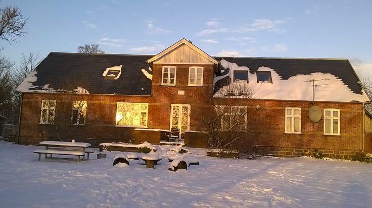 We got snow, beautiful powdery snow