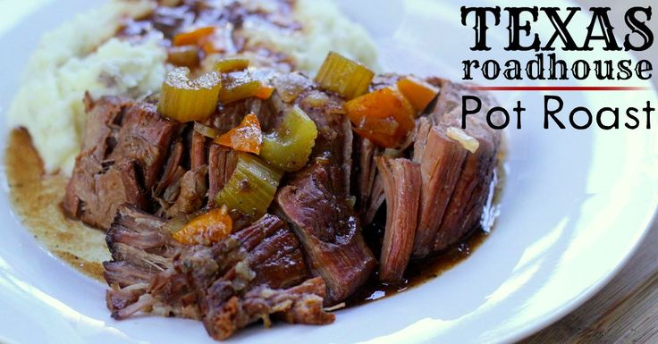 Texas Roadhouse Pot Roast in a slow cooker ♥ I Am That Lady