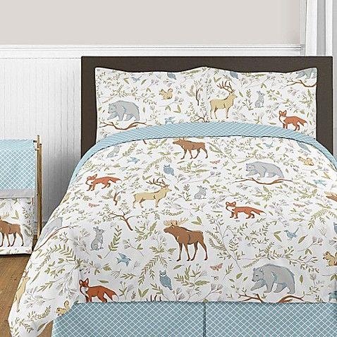 Sweet Jojo Designs Woodland Toile 3 Piece Full Queen Comforter Set