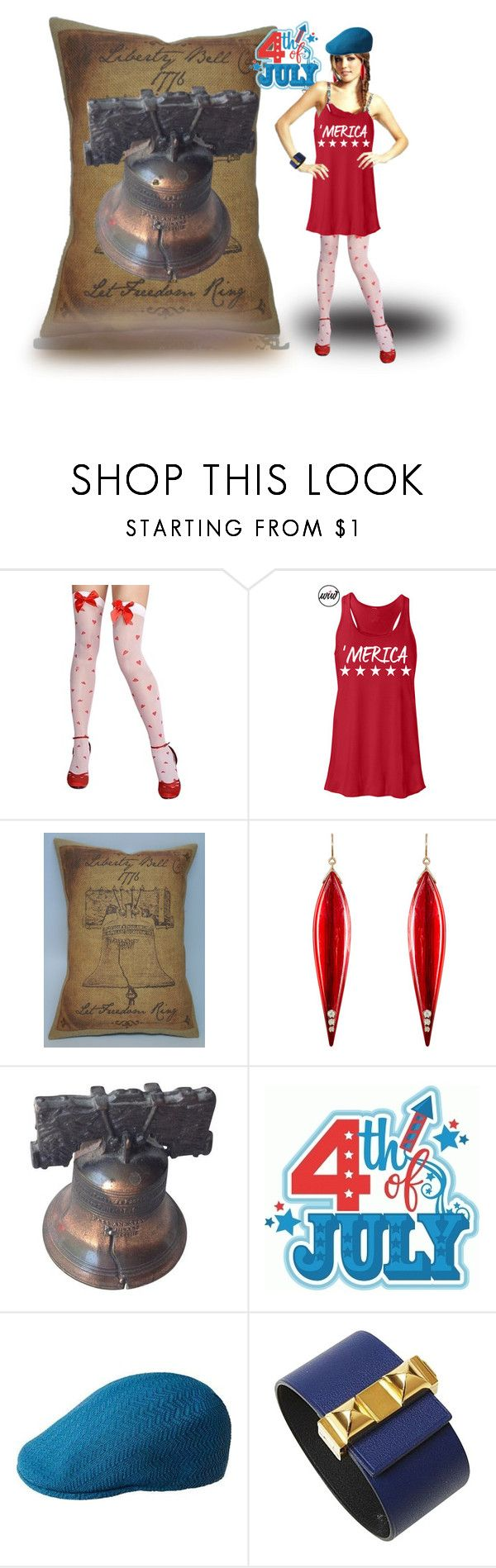 """""""Freedom Rings.."""" by marlenajo-b ❤ liked on Polyvore featuring Trilogy, Mark Davis, kangol, Hermès, 4thofjuly and welovedolls"""