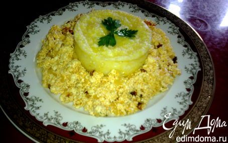 Мамалыга с жареным адыгейским сыром | Кулинарные рецепты от «Едим дома!»