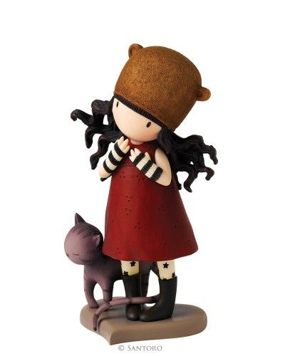 "Gorjuss 6"" Figurine - Purrrrrfect Love from Santoro"