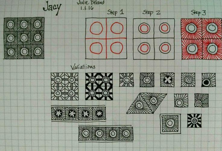 New zentangle pattern, Jacy.