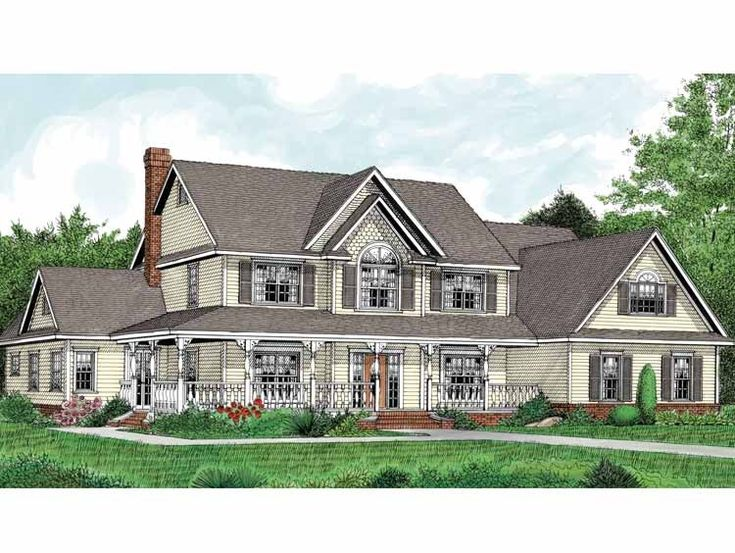 Emejing Two Story House Plans With Wrap Around Porch Gallery