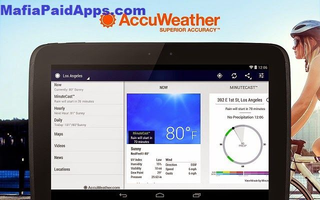 AccuWeather Platinum v4.2.2 APK   Stay connected to the latest weather conditions with AccuWeather. Now supporting Android Wear this free app features the new AccuWeather MinuteCast the leading minute-by-minute precipitation forecast hyper-localized to your exact street address. AccuWeather offers the same Superior Accuracy and great experience across all Android smartphones and tablets and Android Wear.Weatherproof your day for free with these features:  AccuWeather MinuteCast…