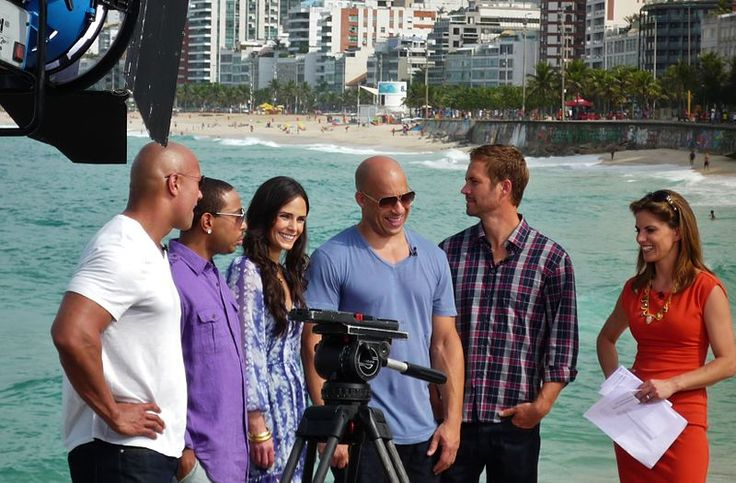 Fast Five cast (Paul Walker, Vin Diesel, Jordana Brewster, Ludacris & the Rock: Dwayne Johnson) with Natalie Morales for NBC 'The Today Show'