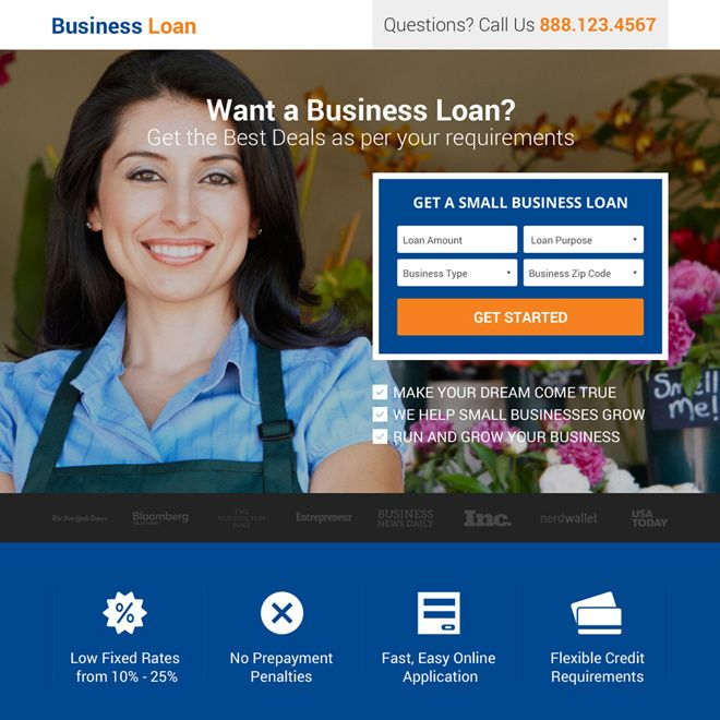 want-a-small-business-loan-leads-reslp-016 | Business Loan Landing Page Design preview.