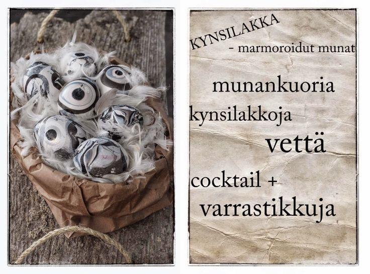 Lahoa rautaa: KYNSILAKKA marmoroidut munat, RUOKAA JA kevättä