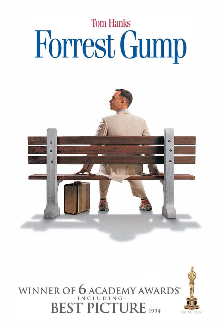 Forrest Gump (1994), dirigido por Robert Zemeckis e estrelado por Tom Hanks venceu 6 oscars.