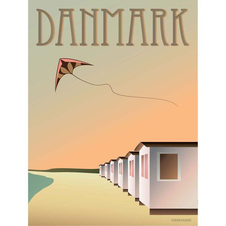 DANMARK - Badehusene, 30x40 cm