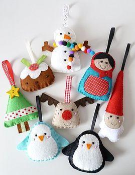 Large Felt Christmas Decorations