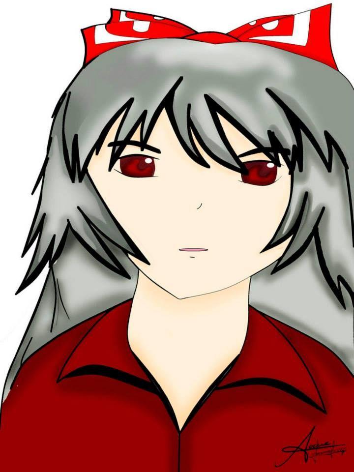 """fujiwara no mokou """"touhou"""" fue el primer dibujo que converti en digital con PAINT xD (aun no conocia programas mas fáciles xP) y por eso ahora amo SAI x3"""