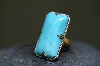 Sleeping Beauty Turquoise ring by Cathy Waterman!
