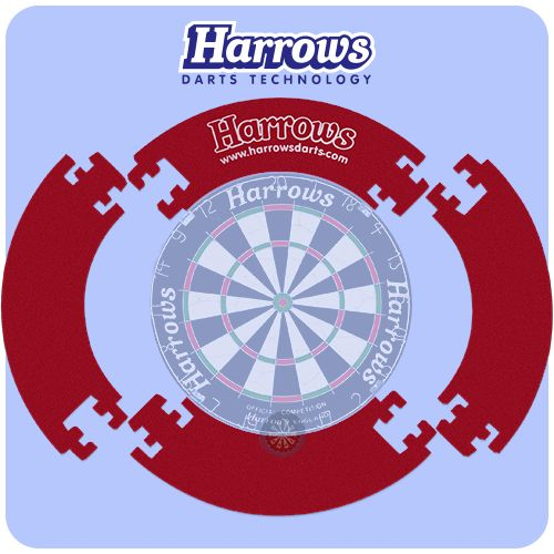 Dartboard Surround - Harrows - Lightweight - 2 Sided - Jigsaw Design Surround - Red - http://www.dartscorner.co.uk/product_info.php?cPath=491&products_id=66032