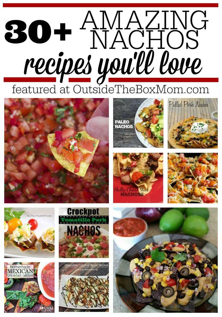 """#20161106 #NACHOS #NachosRecipes """"30+ Amazing NACHOS Recipes You´ll Love http://outsidetheboxmom.com/nachos-recipe/"""