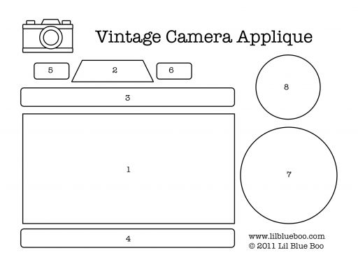 Vintage camera applique download. Cute for a card...?