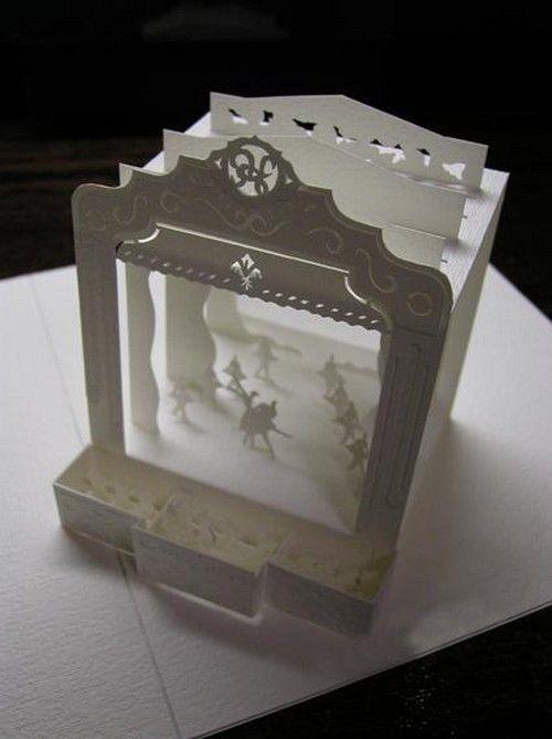 Paper model, ballet stage