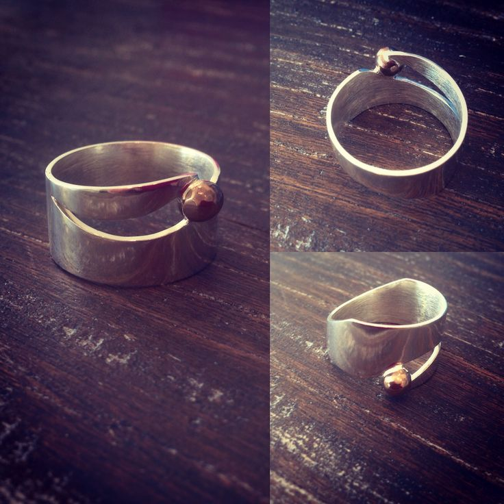 Ring for men. Silver and brons.