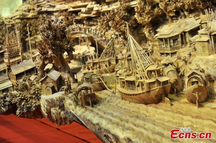 12.286-meter-long wooden sculpture enters Guinness World Records (6/8) - Headlines, features, photo and videos from ecns.cn