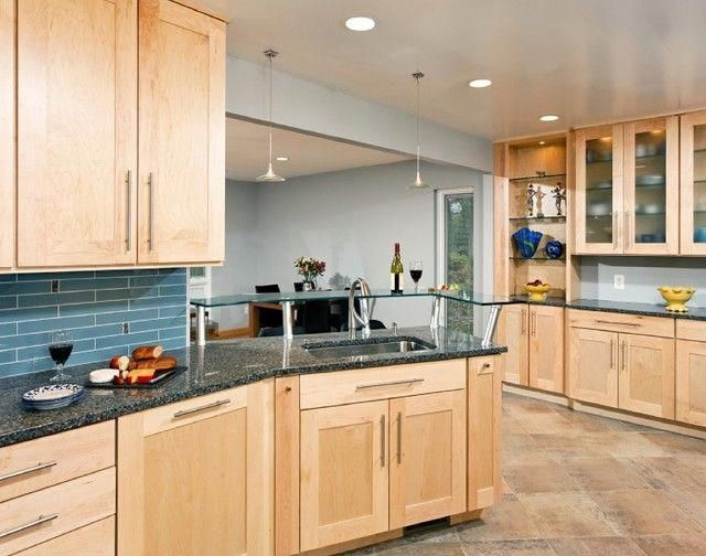 honey maple kitchen cabinets Google Search hon #Cabinets # ...