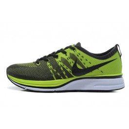 Nike Flyknit Trainer+ Herre Sko Grønn Svart | Nike billige sko | kjøp Nike sko på nett | Nike online sko | ovostore.com
