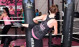 Groupon - 10 Boxing Fitness Classes or One Month of Unlimited Classes at Jabz Boxing Fitness (81% Off)  in Tempe. Groupon deal price: $24