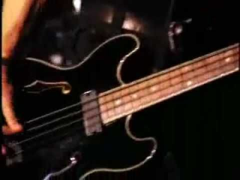 """The Cure """"M"""" Simon playing Eccleshall 335 Bass!"""