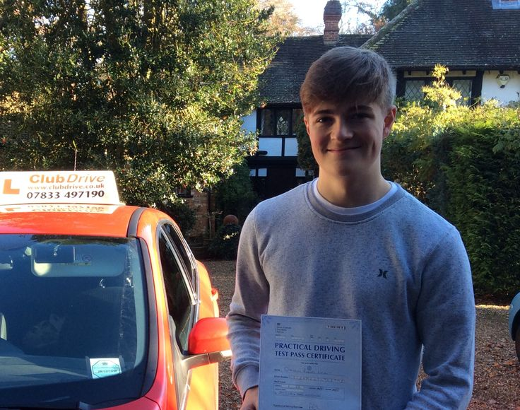 Massive congratulations to Cameron, who has passed his driving test first time at High Wycombe Test Centre, with just five drive faults! Nice driving Cameron, well done :) #drivingtestpass www.clubdrive.co.uk
