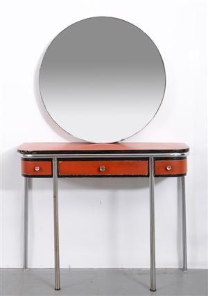 Funkis sminkbord samt spegel, 1900-talets första hälft (2)