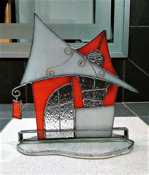 Deko-Objekte - Tiffany Haus - ein Designerstück von Die-Glasscherbe-Melanie-Bujacz bei DaWanda