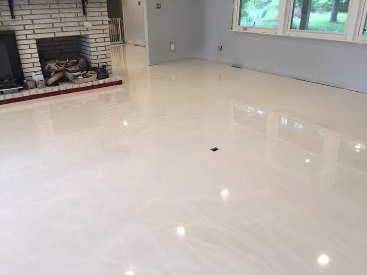 Pearl Metallic Marble Epoxy Flooring In Wilmington North Carolina Basement Flooring Options