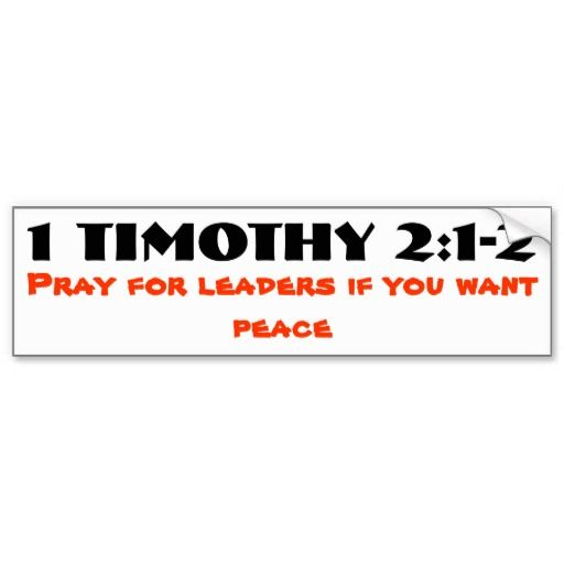 1 Timothy 2:1-2 Pray for Leaders and Peace. [ Instructions