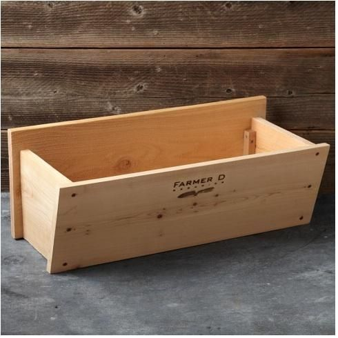 A Cedar Window Box is available in two lengths—24 inches and 36 inches—and is $79.95 or $99.95 depending on size from Williams-Sonoma Agrarian.