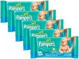 Kit de Lenços Umedecidos Pampers Baby Care - 5 Pacotes com 64 Unidades Cada