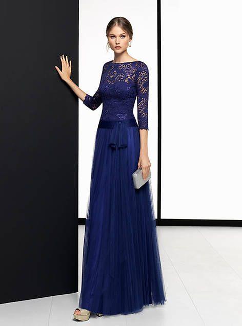 89c723028 Vestido madrina de boda azul 2018