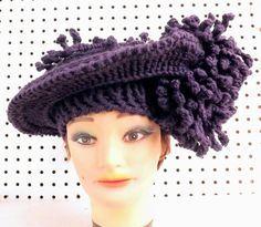 Purple Crochet Hat Womens Hat Crochet Flowers Purple Hat Formal Hat Derby Hat Floppy Hat Kentucky DERBY Wide Brim Hat Wide Brimmed Hat by strawberrycouture by #strawberrycouture on #Etsy