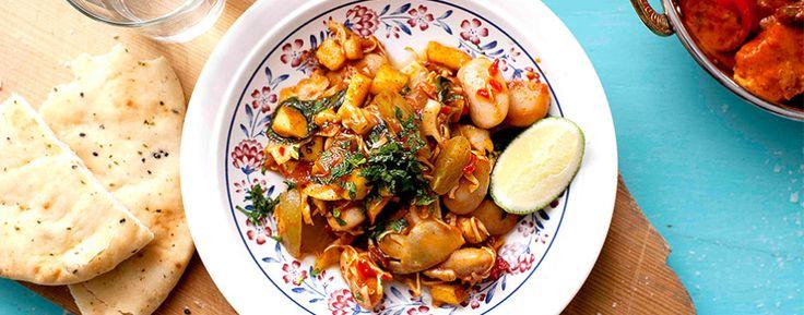 Curryn tuoksuinen papusalaatti - resepti - GoGreen