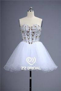 Fabbrica della Cina Vestito gonna mini corpetto pieno di diamanti in rilievo lace-up ragazza carina Cina