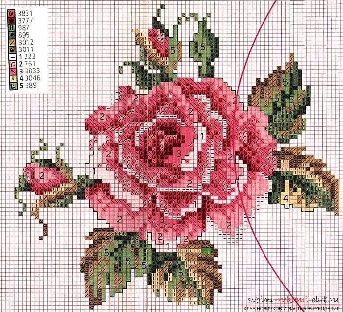 Как научиться вышивать крестом нежные розы своими руками с описанием и фото, схемы вышивки крестом нежных роз своими руками