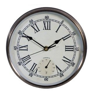 9 inch Outdoor Clock with Thermometer £19.99
