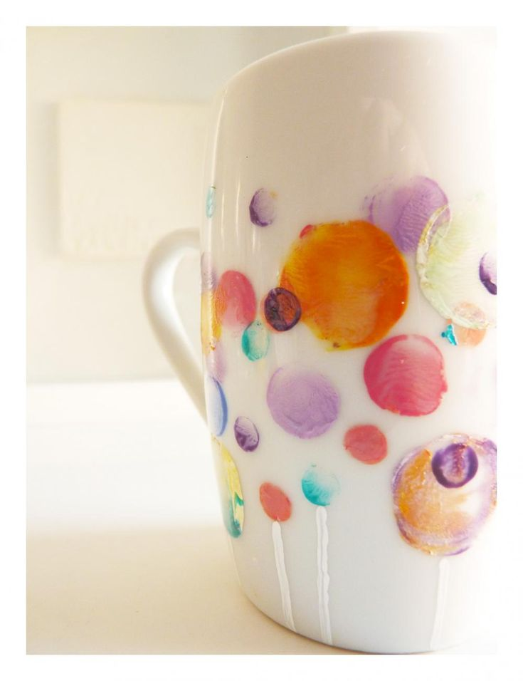 Handpainted Mug. Might be a fun DIY with a Porcelaine paint pen.