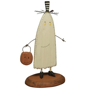 Primitives by Kathy Halloween Wooden Ghost